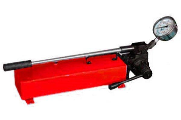 Насос ручной гидравлический для работы оборудования с гидравлическим возвратом. Серия НРГ
